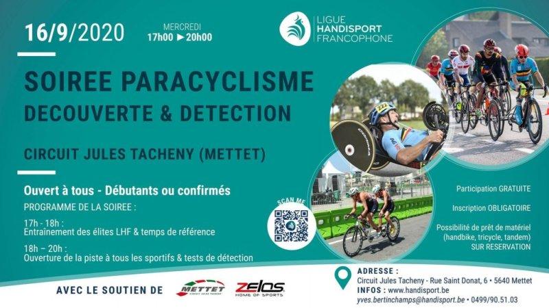Paracyclisme - Soirée découverte & détection
