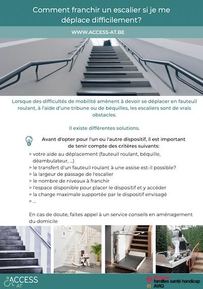 Fiche - Comment franchir un escalier si je me déplace difficilement? d'AccessAndGo