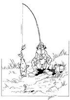 La pêche au ver
