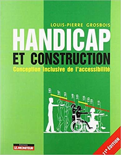 Handicap et construction: Conception inclusive de l'accessibilité 11e édition de Louis-Pierre Grosbo