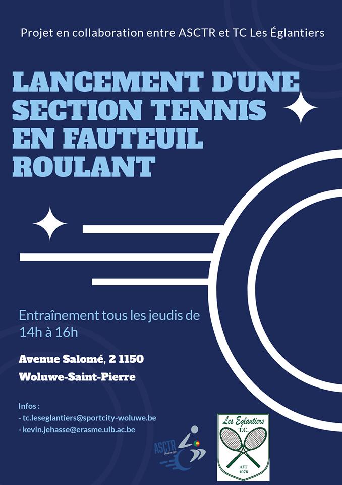 Lancement d'une section tennis en fauteuil à Woluwe-St-Pierre
