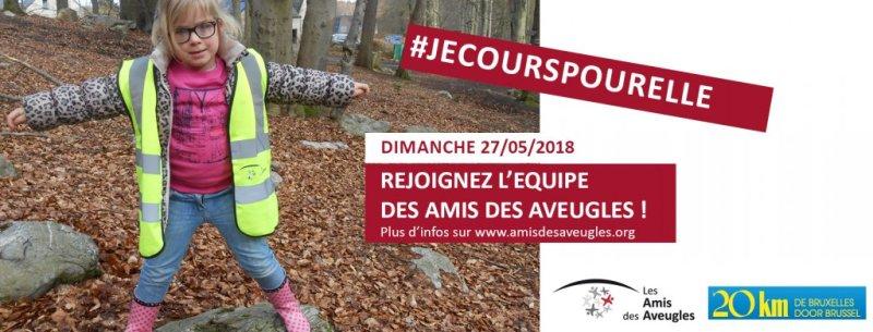 Courir les 20 km de Bruxelles avec l'équipe des Amis des Aveugles