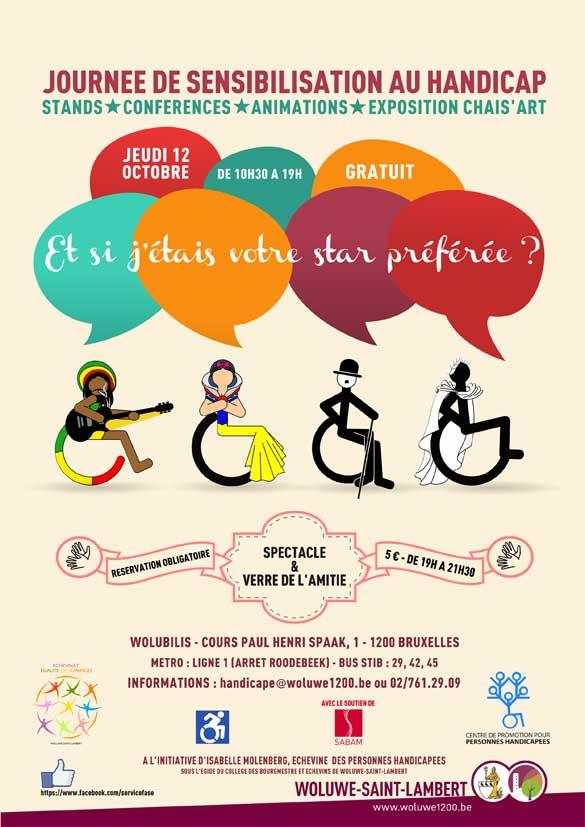 Journée de sensibilisation au handicap, le 12 octobre à Woluwe-Saint-Lambert