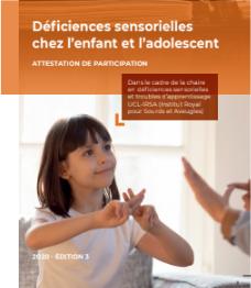 Formation en déficiences sensorielles chez l'enfant et l'adolescent