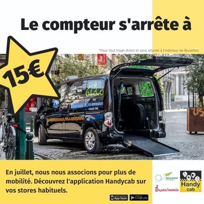 Le compteur s'arrête à 15 euros dans les taxis PMR en juillet