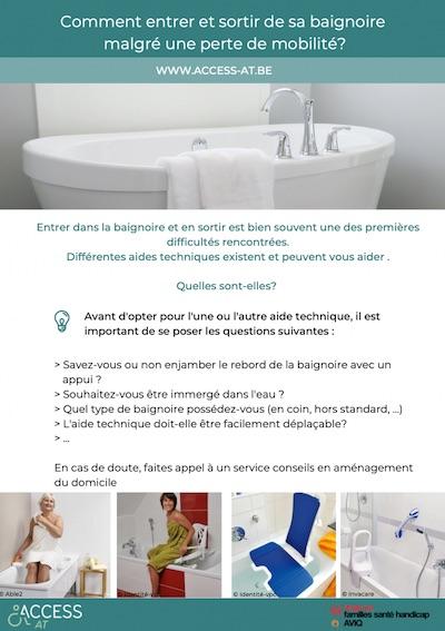 Fiche - Comment entrer et sortir de sa baignoire malgré une perte de mobilité? d'AccessAndGo