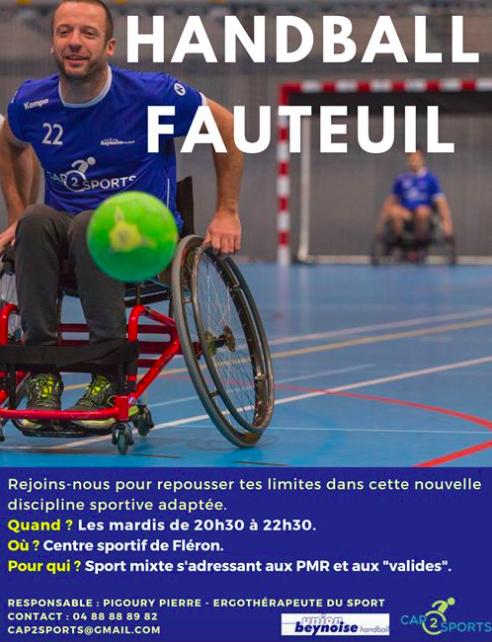 Nouveau: handball en fauteuil roulant