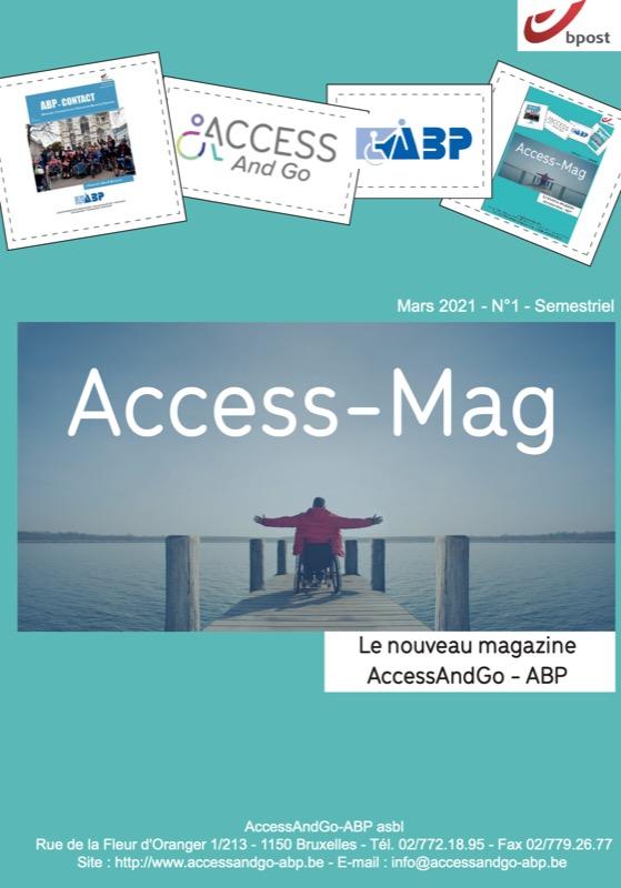 Access-Mag, numéro 1, spécial fusion de l'asbl AccessAndGo-ABP