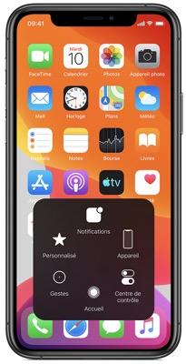 Accessibilité iOS - AssistiveTouch sur iPhone. Passez du pincer au toucher.