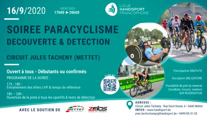 Paracyclisme - Soirée découverte et détection