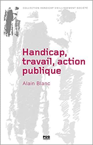 Handicap, travail, action publique: Les métamorphoses du handicap de Alain BLANC
