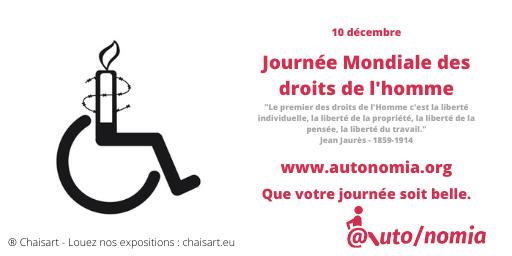 10 décembre - Journée Mondiale des droits de l'homme
