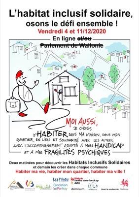 L'habitat inclusif solidaire, osons le défi ensemble ! En ligne le 4 et 11 décembre 2020 de 9h45 à 1