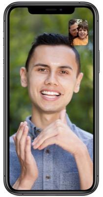 Accessibilité iOS - Facetime : signez avec votre voisin.