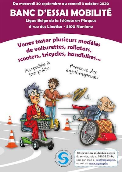Banc d'essai mobilité