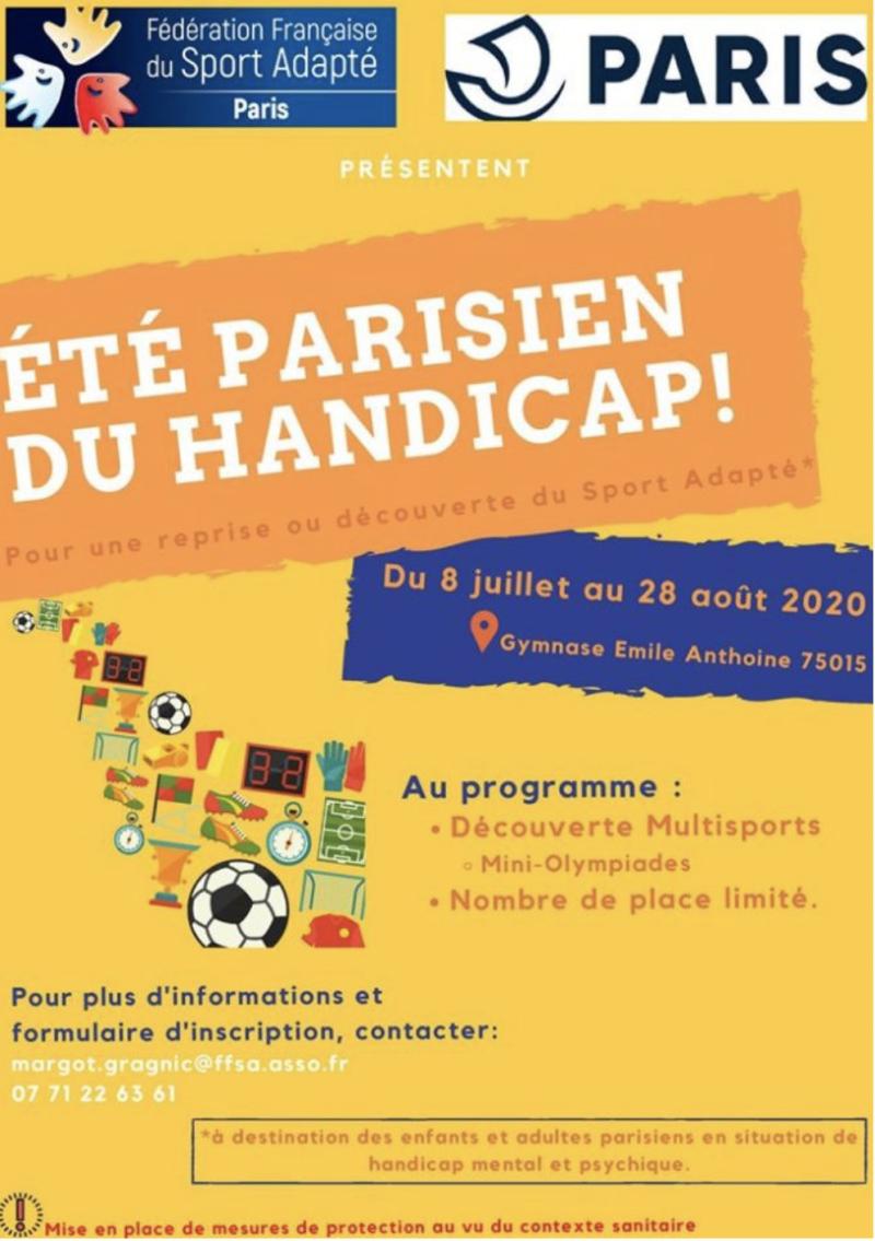 Été parisien du handicap – Comité Départemental Sport Adapté de Paris