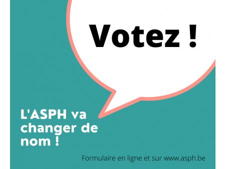 L'ASPH change de nom... avec vous ! Place au vote !