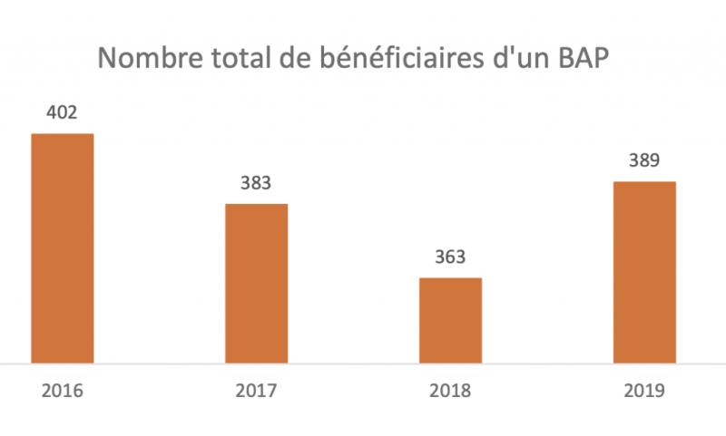 Rapport d'activité 2019 de l'AVIQ : Budget d'Assistance Personnelle - BAP