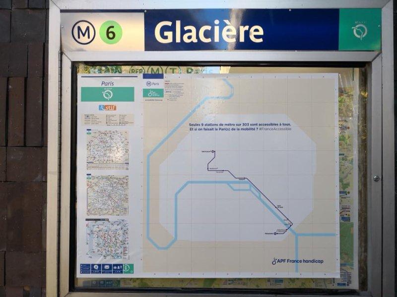 APF France Handicap a mené une action contre la non-accessibilité du métro parisien