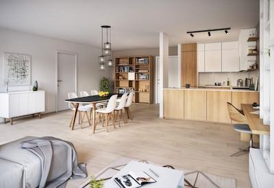 Résidence Asklepios, 45 appartements adaptables au centre de Liège.