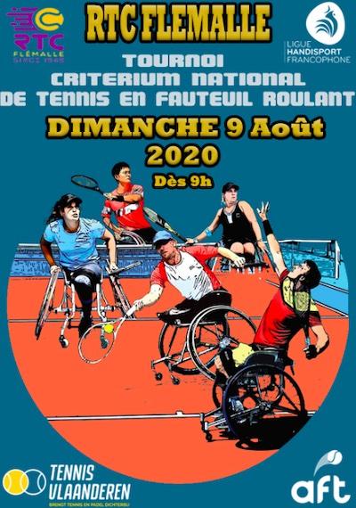 Le challenge national de tennis en chaise reprend le 9 août à Flemalle.