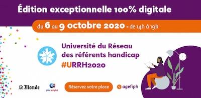 Université du réseau des référents handicap du 6 au 9 octobre 2020