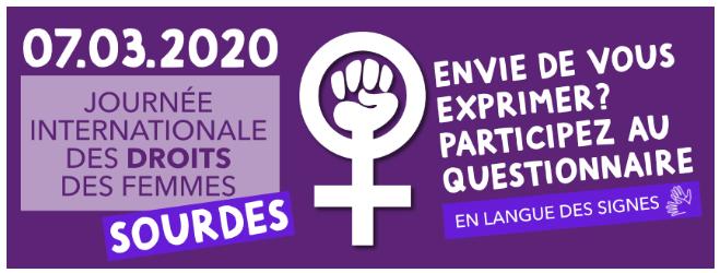 La journée des droits des femmes... sourdes !